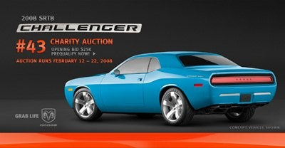 "43rd 2008 Dodge Challenger Painted ""Petty blue"", Auctioned"