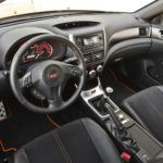 Subaru WRX STi Orange and Black interior