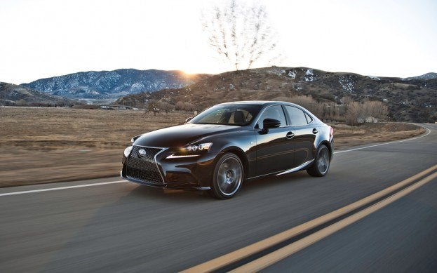 Lexus IS350 driving