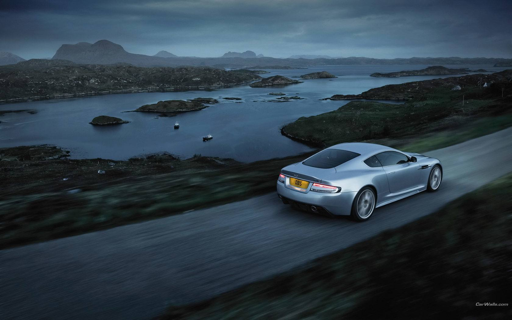 Aston Martin DBS lake