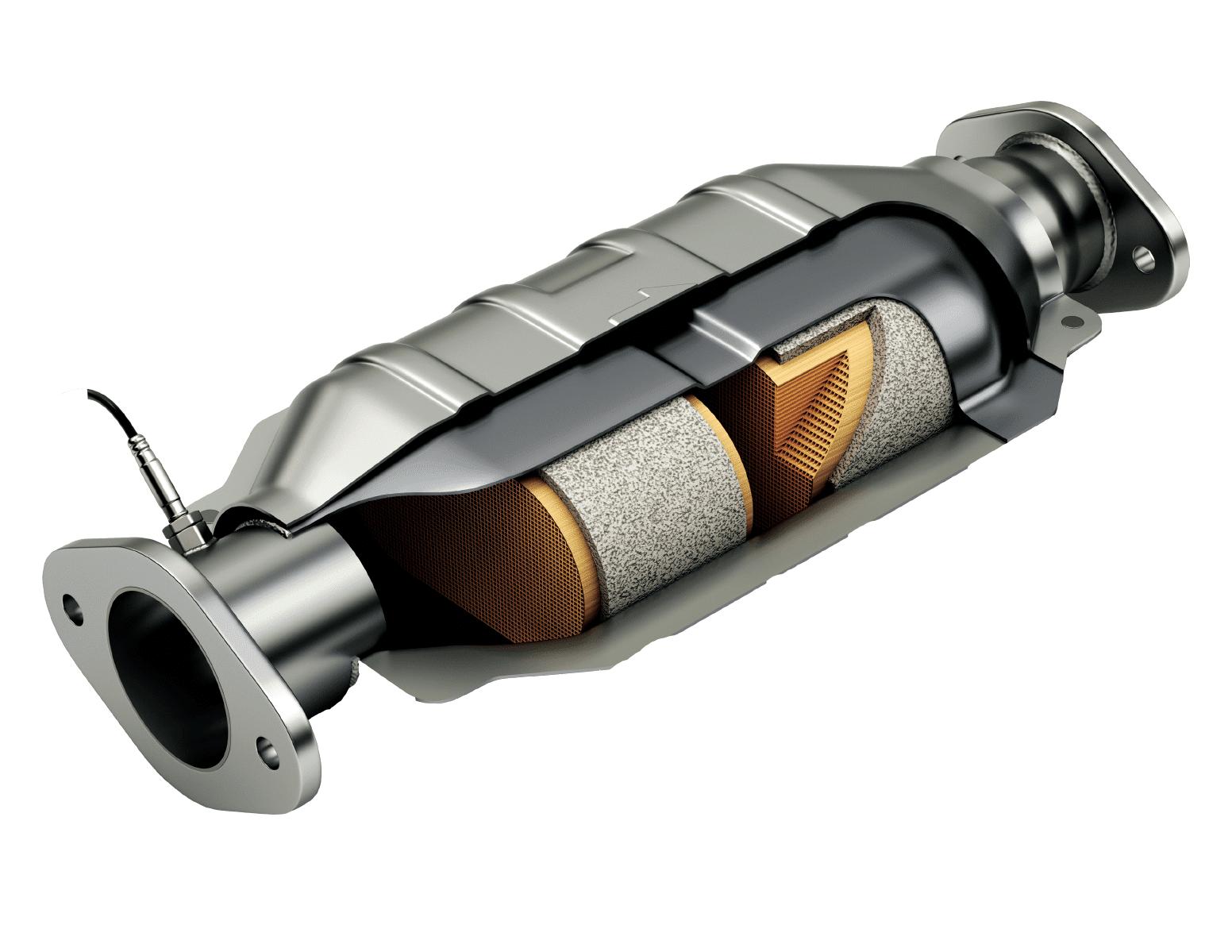 catalytic converter cutaway