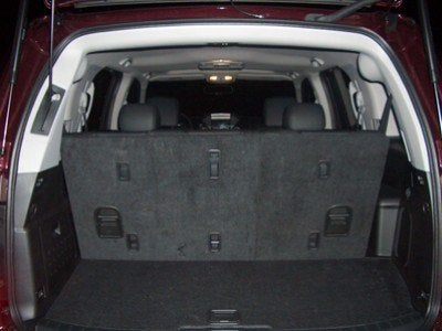 2009 Honda Pilot Touring back seats up