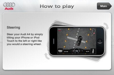 Audi A4 Driving Experience steering