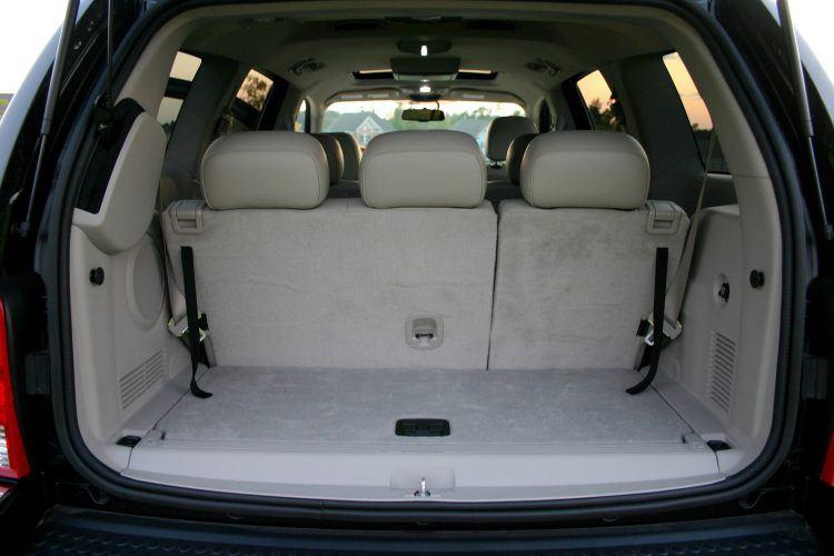 Chrysler Aspen Hybrid rear interior