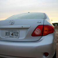 2009 Toyota Corolla XLE tail