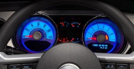 2010 Ford Mustang gauges