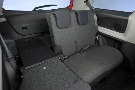 2009 Toyota Yaris 3-door Liftback rear seats