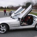 Christine in the Mercedes SLR McLaren at World Class Driving