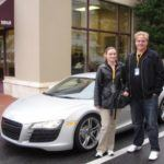 Us in front of the R8