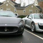 Audi R8 and Maserati GranTurismo