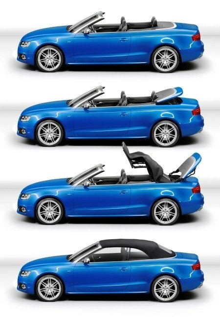 Audi S5 Cabriolet top moving
