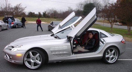 Christine in Mercedes McLaren SLR