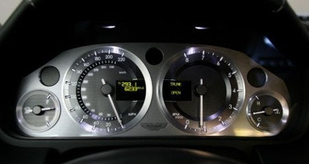 Aston Martin V8 Vantage gauges