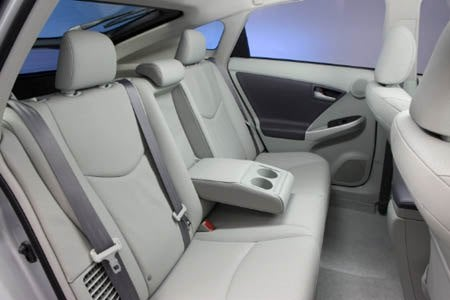 2010 Toyota Prius rear seats