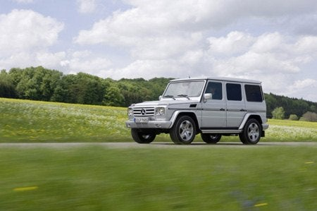Mercedes Benz G-Class on road