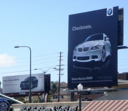 Audi BMW billboard war