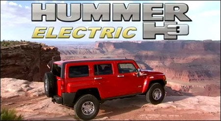 New For Earth Day 2009, It's The Hummer Hybrid!!