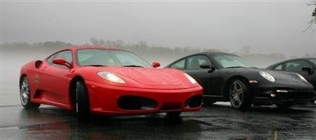 Ferrari F430 and Porsche 911 Turbo