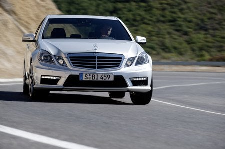E 63 AMG on road front.jpg