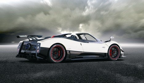 Pagani Zonda Cinque Roadster rear