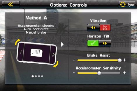Real Racing options
