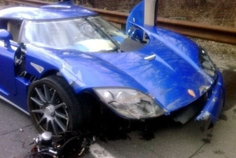 Crashed Koenigsegg CCX