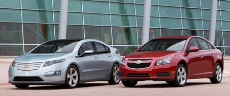 Chevy Cruze and Chevy Volt
