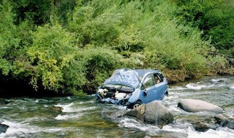 Toyota Prius River Crash