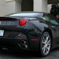 2010 Ferrari California rear