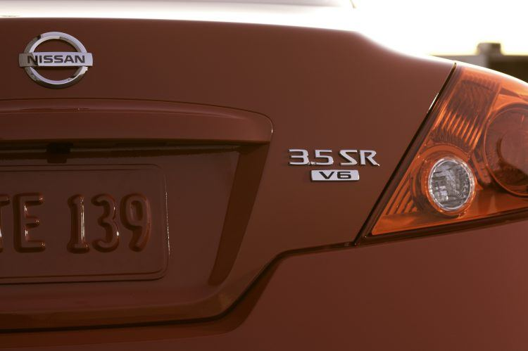 2010 Nissan Altima Coupe rear badge