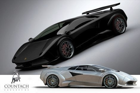 Make Your Own Car >> Lamborghini Countach EV Concept