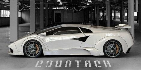 Lamborghini Countach EV Concept side