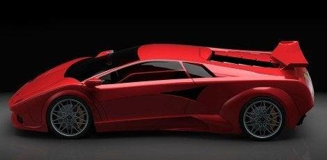 Lamborghini Countach EV Concept red