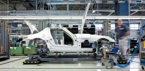 Mercedes Benz SLS AMG production