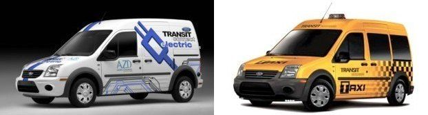 Ford Transit Connect Electric and Taxi