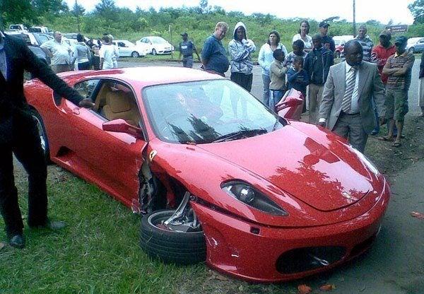 Wrecked Ferrari F430
