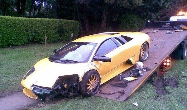 Lamborghini Murcielago Wrecked