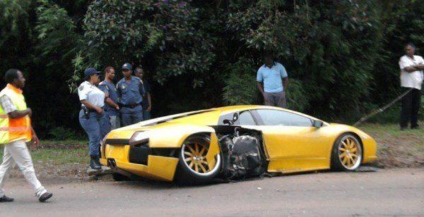 Wrecked Lamborghini Murcielago