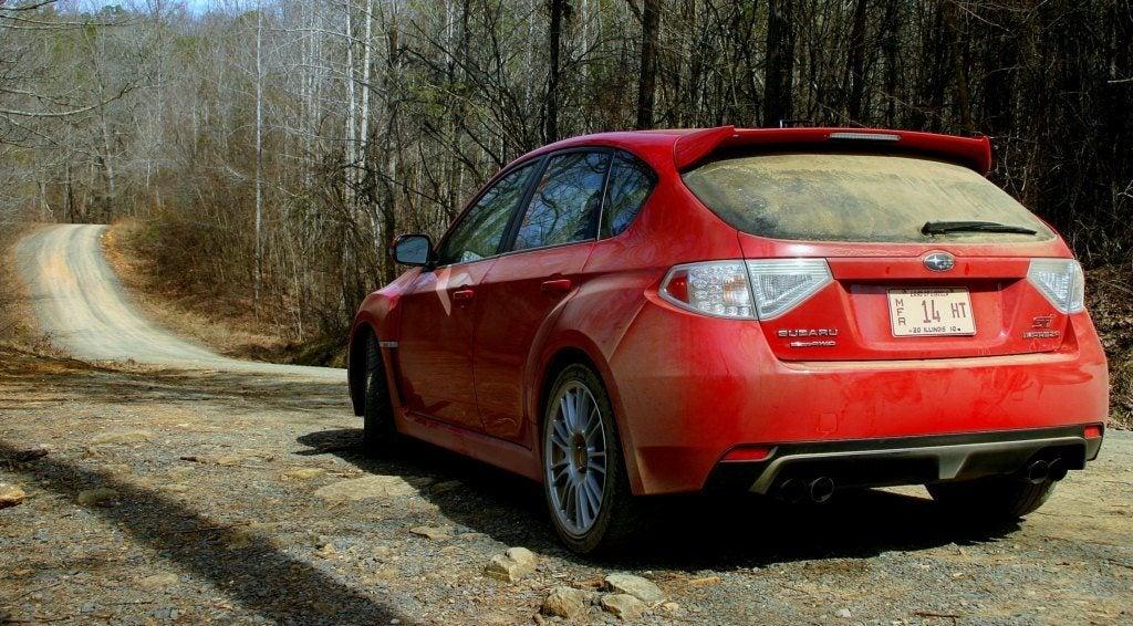 2010 Subaru WRX STi rear