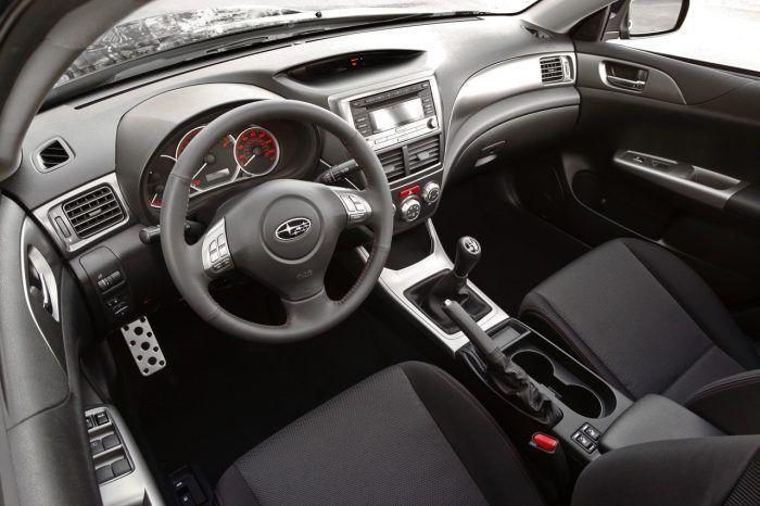2010 Subaru WRX interior