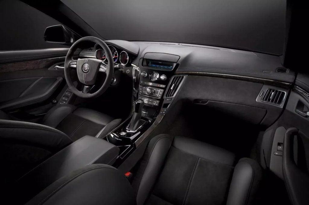 2011 Cadillac CTS-V Sport Wagon interior layout.