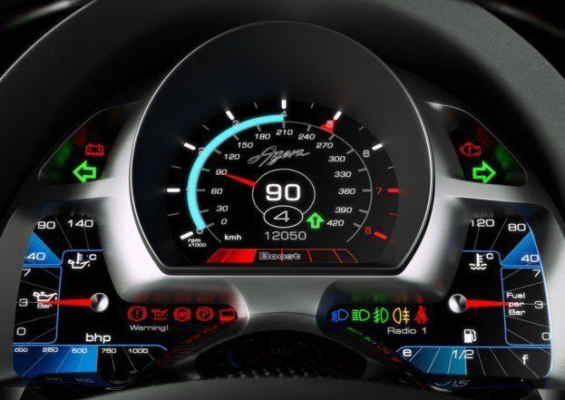 Koenigsegg Agera gauges