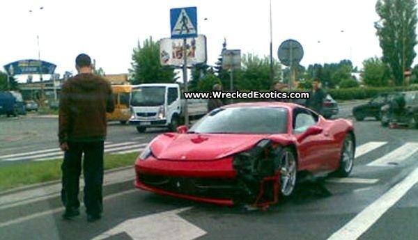 Wrecked Ferrari 458 Italia