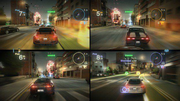 Blur screenshot 4 player split screen