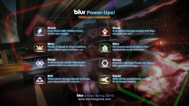Blur Power up Intro Screen