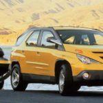 Pontiac Aztek yellow front