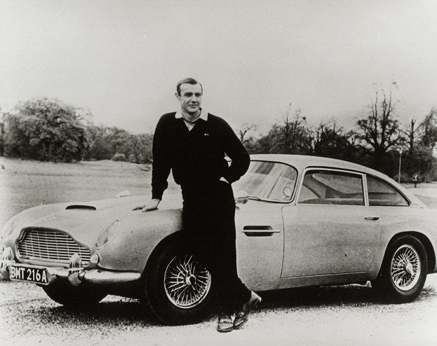 1964 Sean Connery with Aston Martin Goldfinger photo