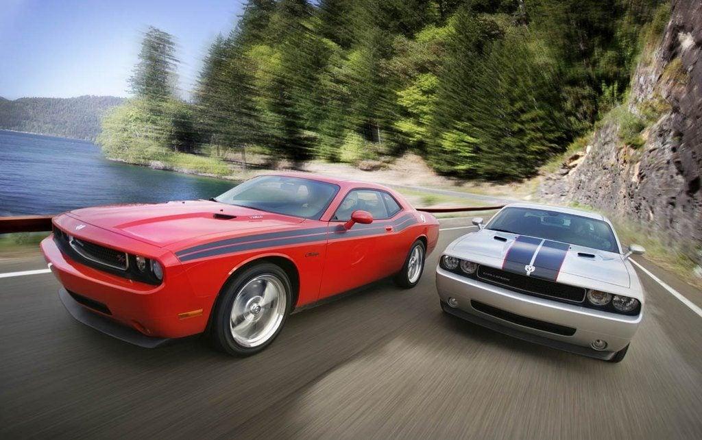 2010 Dodge Challenger R/T Classic (left) 2010 Dodge Challenger S