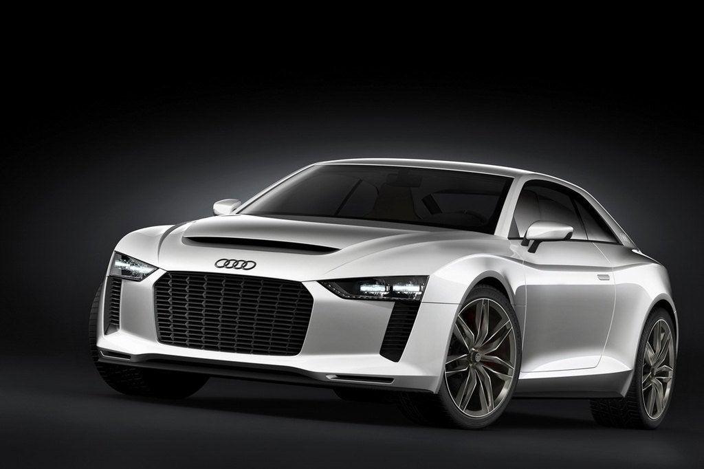 Audi Quattro Concept Front View Silver