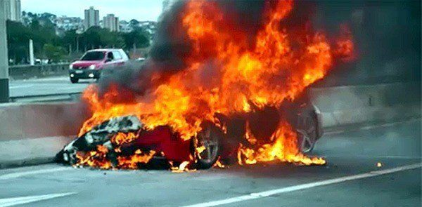 Another Ferrari 458 Italia Bursts Into Flames